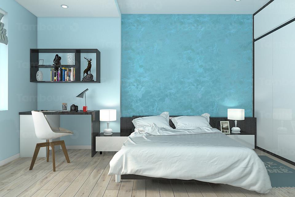 Màu sơn phòng ngủ cho người mệnh thủy để tăng tài lộc