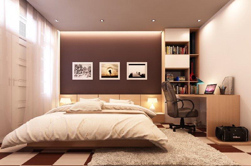 Màu nâu đất cho phòng ngủ phù hợp với người mệnh Thổ