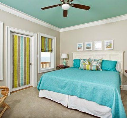 Sơn phòng ngủ màu xanh đẹp cho phòng ngủ và nội thất